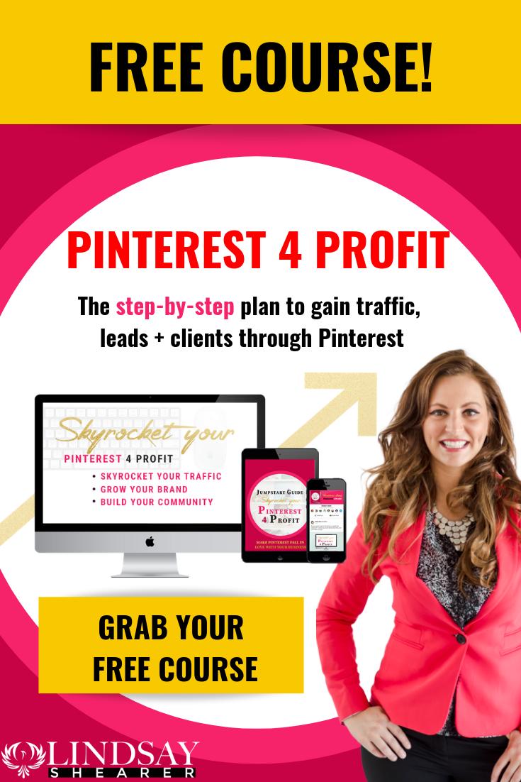 Pinterest 4 Profit Free Course